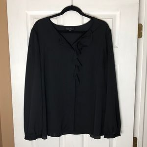 Eloquii Back ruffle blouse!